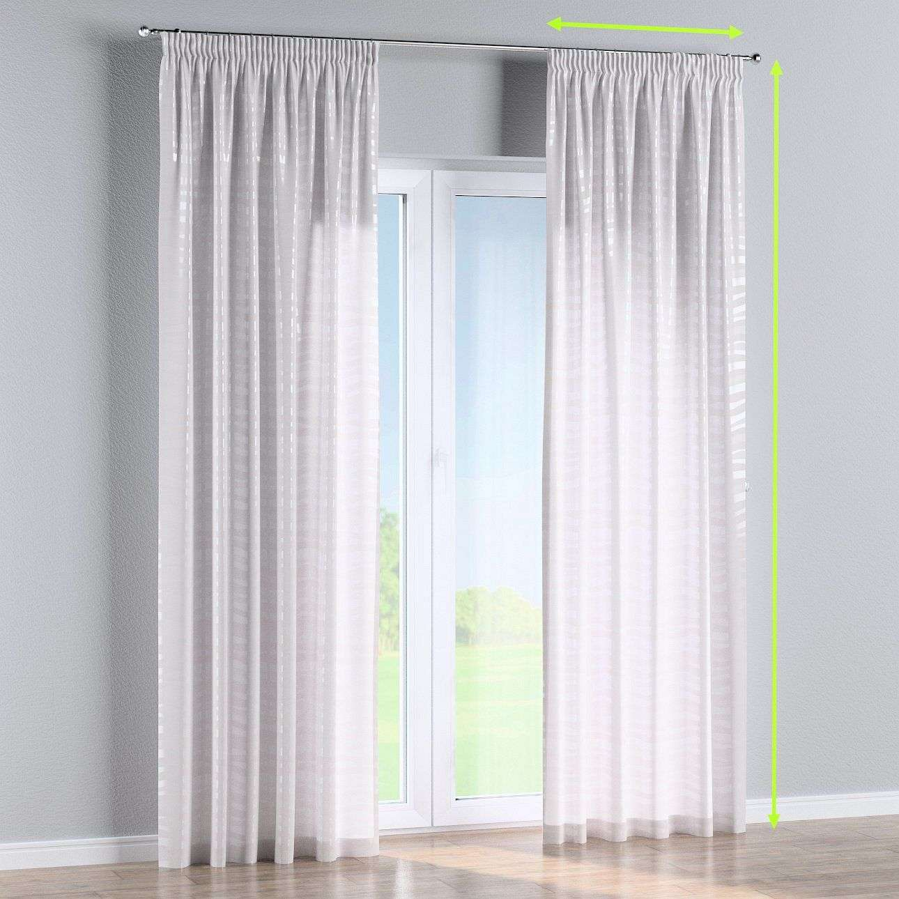 Pencil pleat lined curtains in collection Damasco, fabric: 141-87