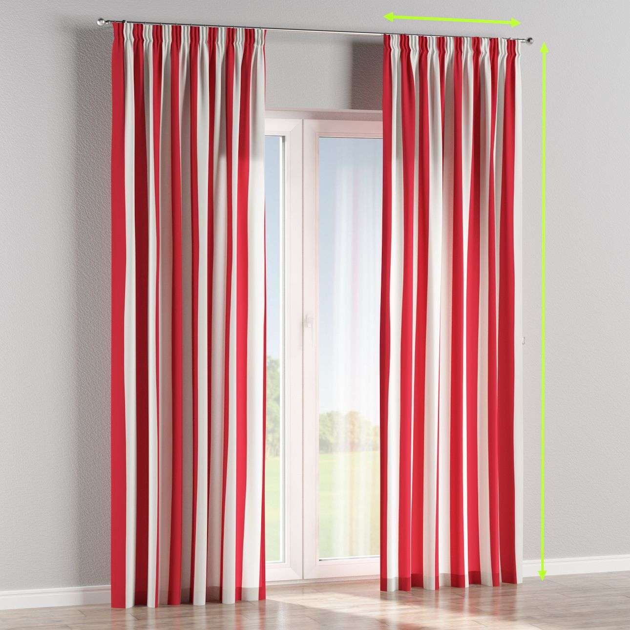 Pencil pleat lined curtains in collection Comics/Geometrical, fabric: 137-54