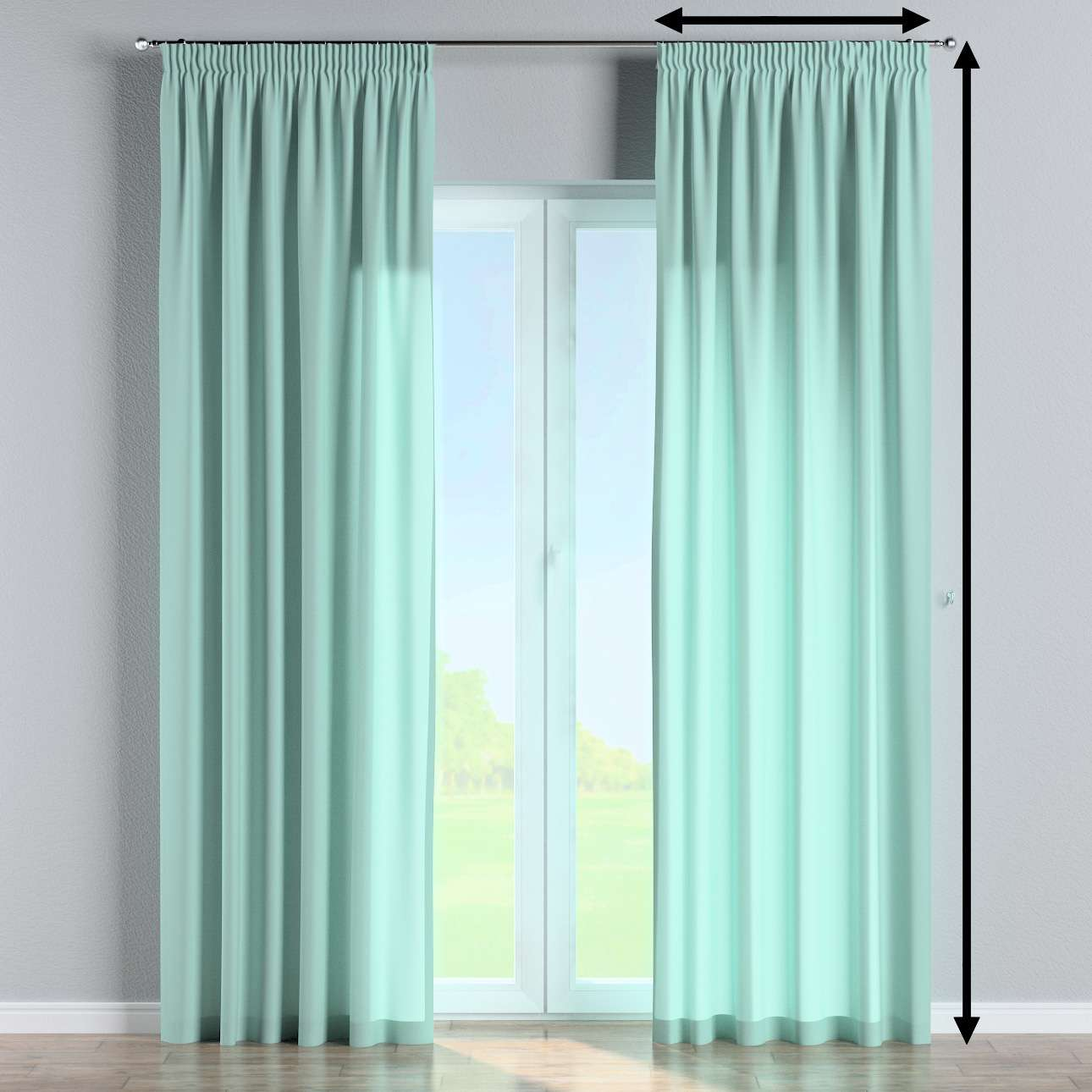 Pencil pleat lined curtains in collection Loneta , fabric: 133-32