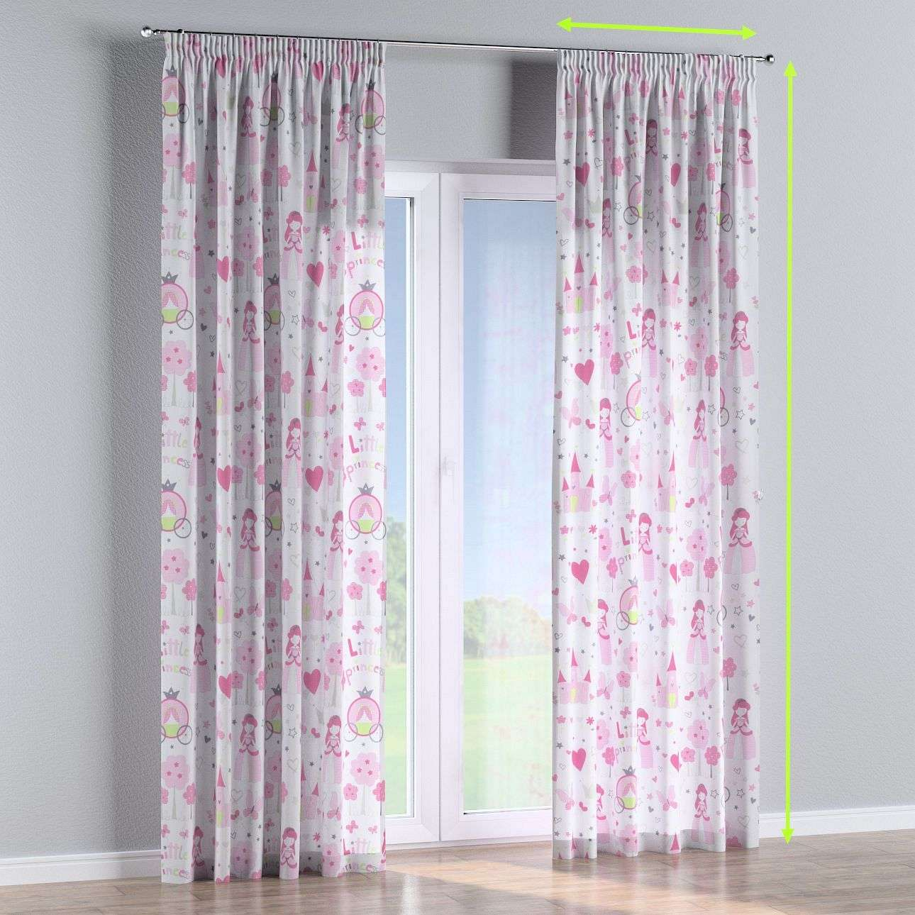 Pencil pleat lined curtains in collection Little World, fabric: 141-28