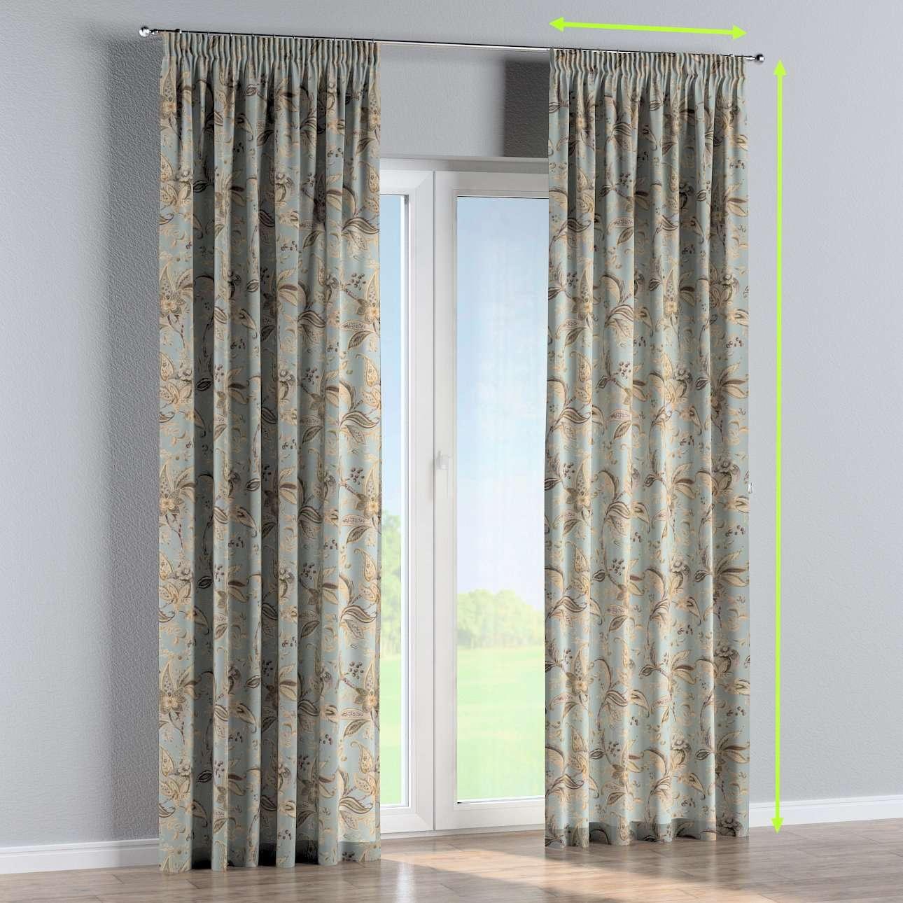 Gefütterter Vorhang mit Kräuselband von der Kollektion Gardenia, Stoff: 142-18