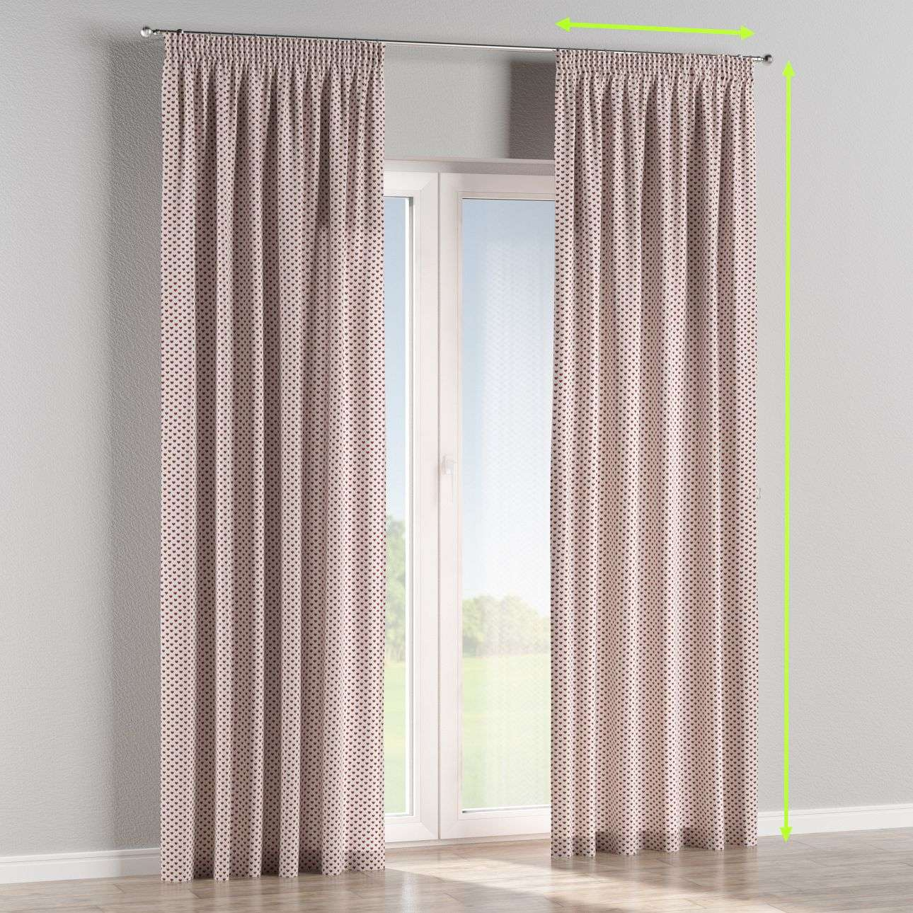 Pencil pleat lined curtains in collection Christmas , fabric: 630-04