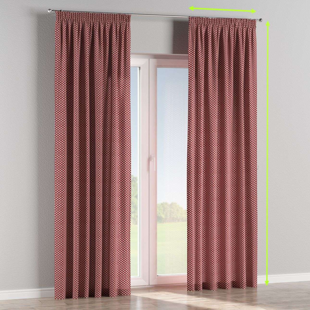 Pencil pleat lined curtains in collection Christmas , fabric: 630-40