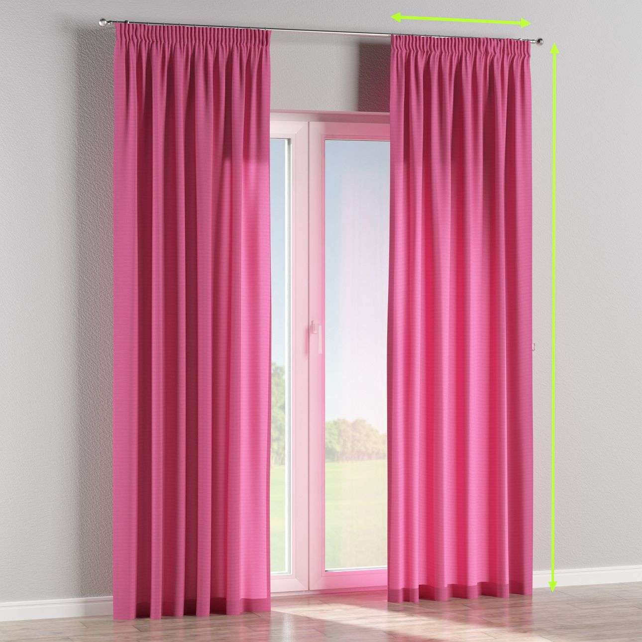 Pencil pleat lined curtains in collection Jupiter, fabric: 127-24