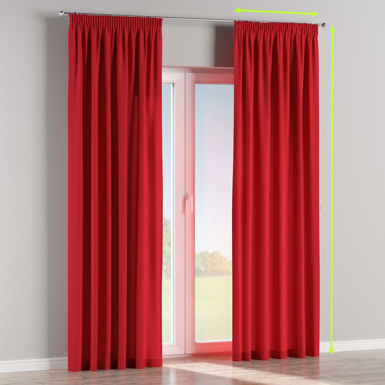 Pencil pleat lined curtains in collection Cotton Panama, fabric: 702-04