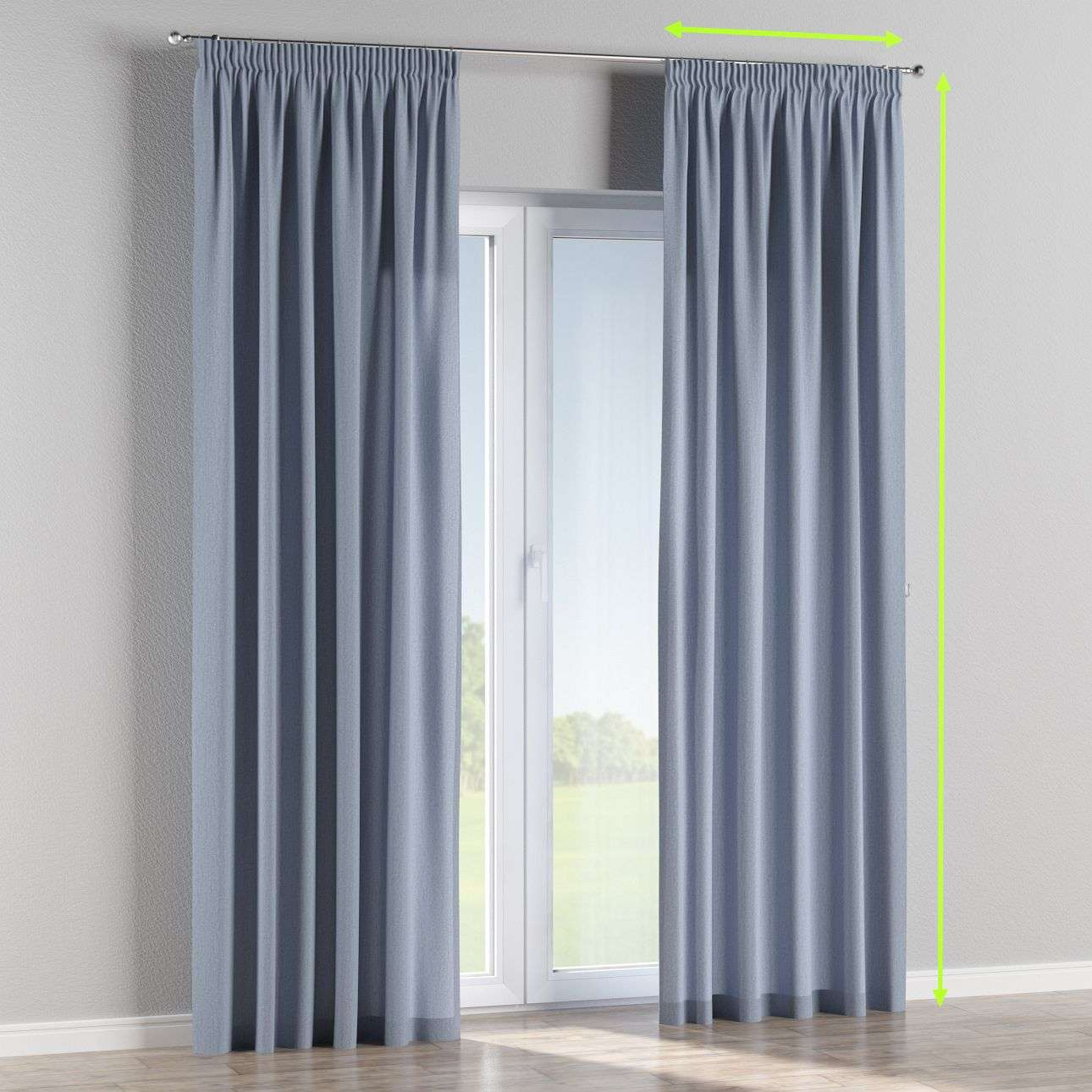 Pencil pleat lined curtains in collection Chenille, fabric: 702-13