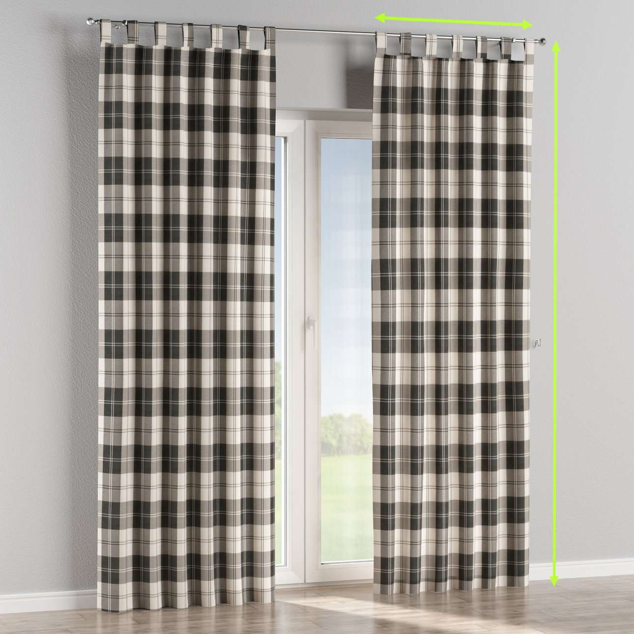 Tab top lined curtains in collection Edinburgh , fabric: 115-74