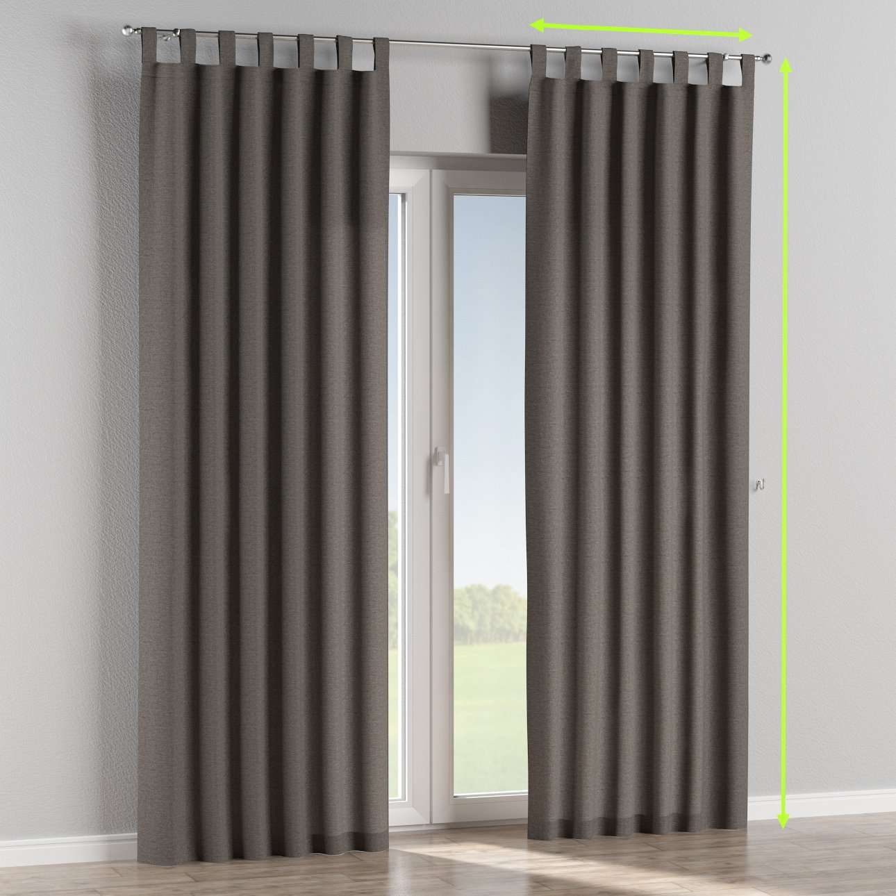 Tab top lined curtains in collection Edinburgh , fabric: 115-77