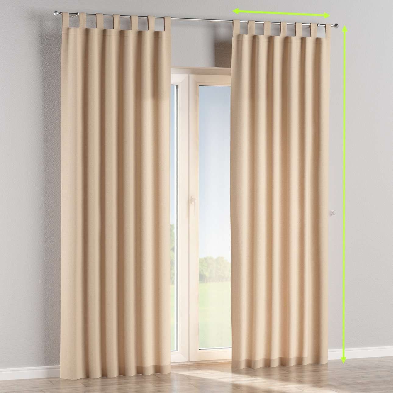 Tab top lined curtains in collection Edinburgh, fabric: 115-78