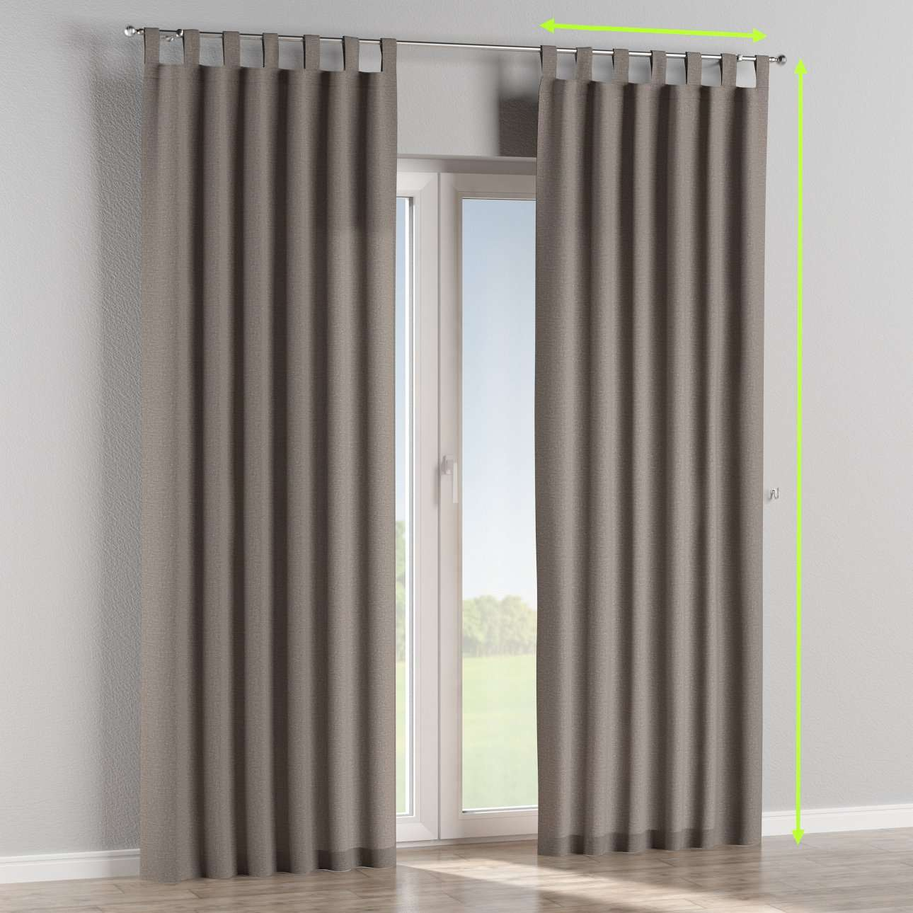 Tab top lined curtains in collection Edinburgh , fabric: 115-81