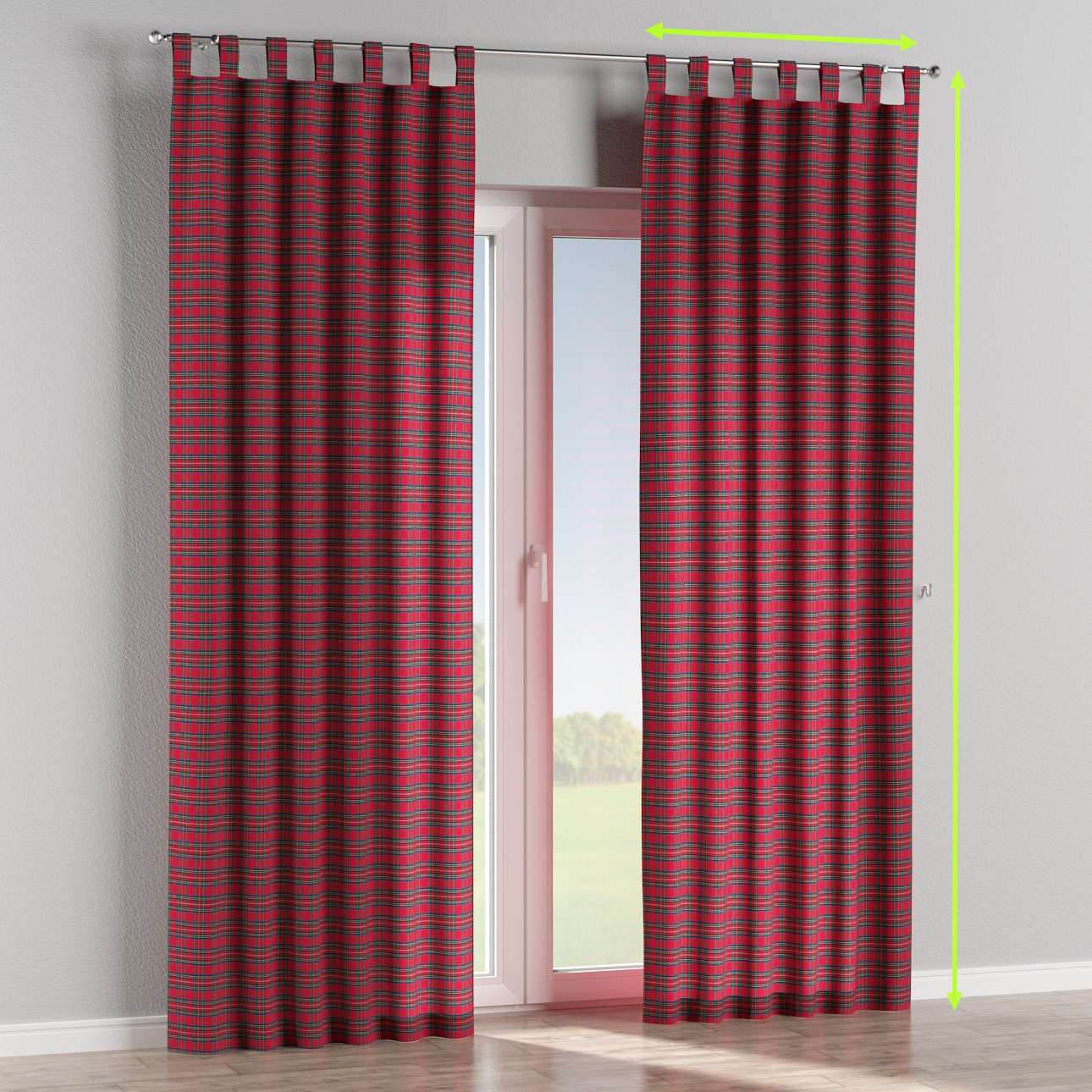 Tab top lined curtains in collection Bristol, fabric: 126-29