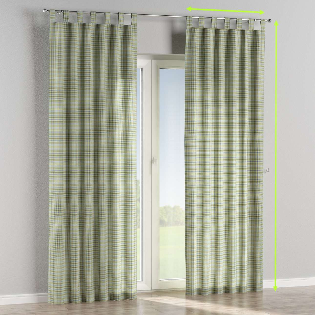 Tab top lined curtains in collection Bristol, fabric: 126-69