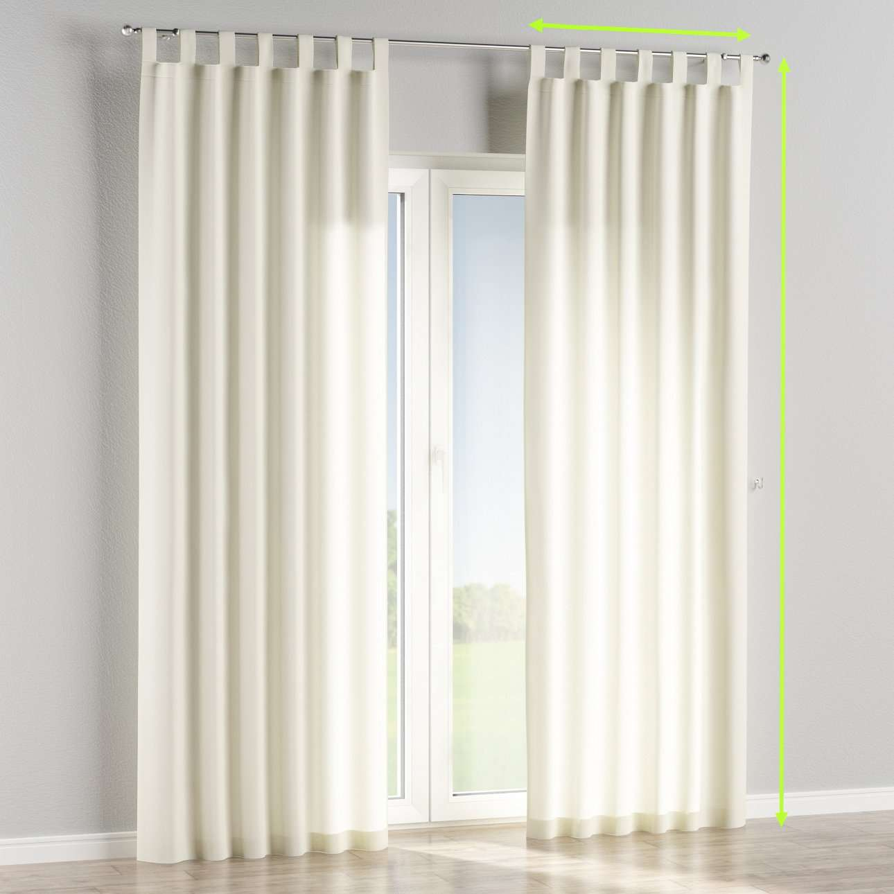 Tab top lined curtains in collection Jupiter, fabric: 127-00
