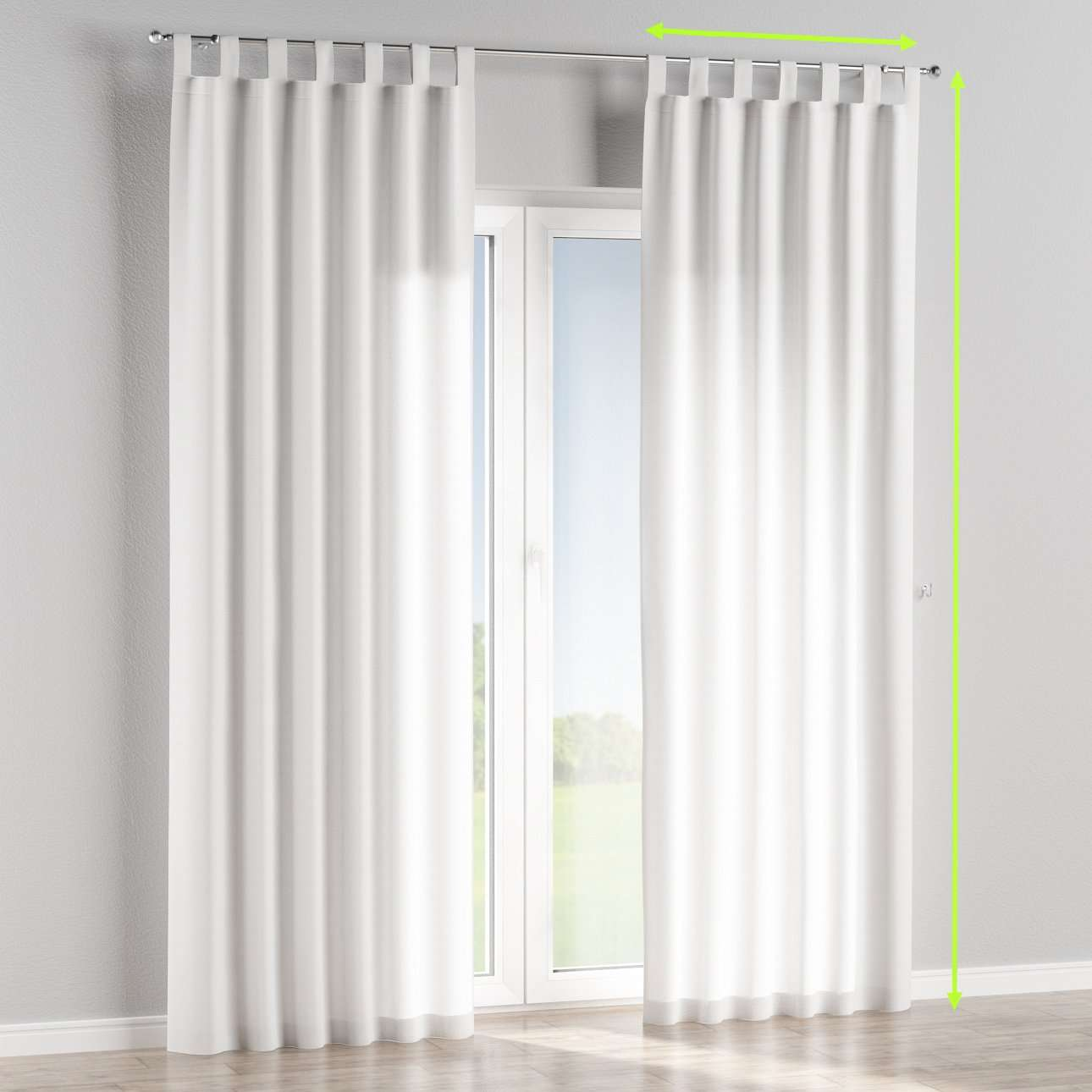 Tab top lined curtains in collection Jupiter, fabric: 127-01