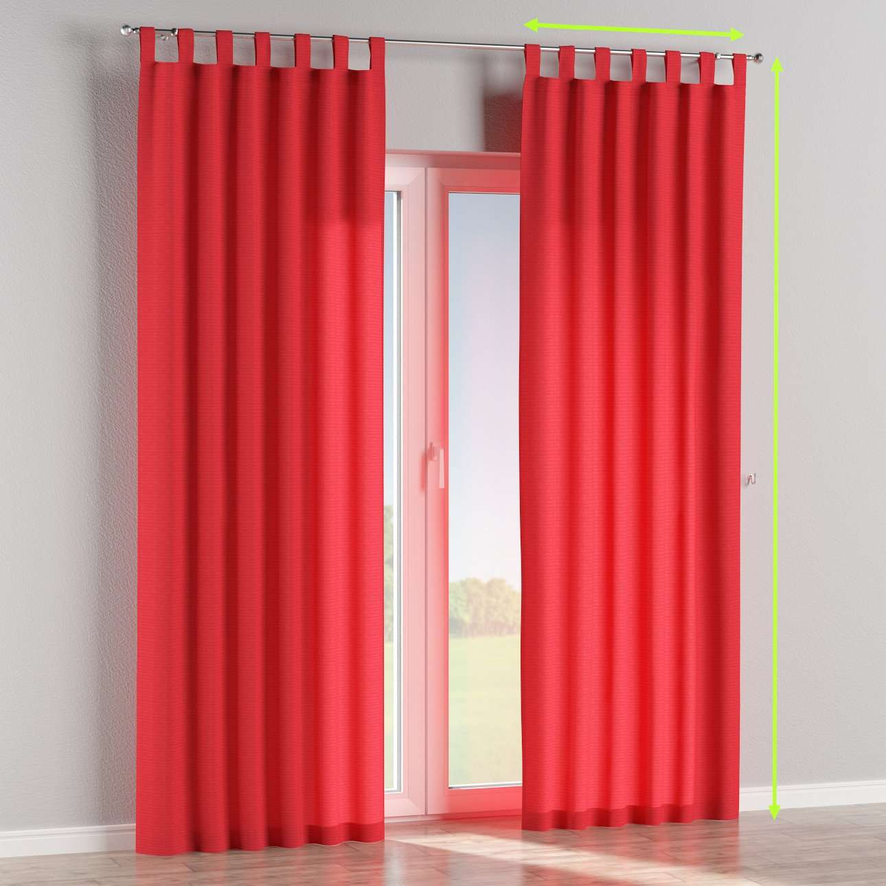 Tab top lined curtains in collection Jupiter, fabric: 127-14
