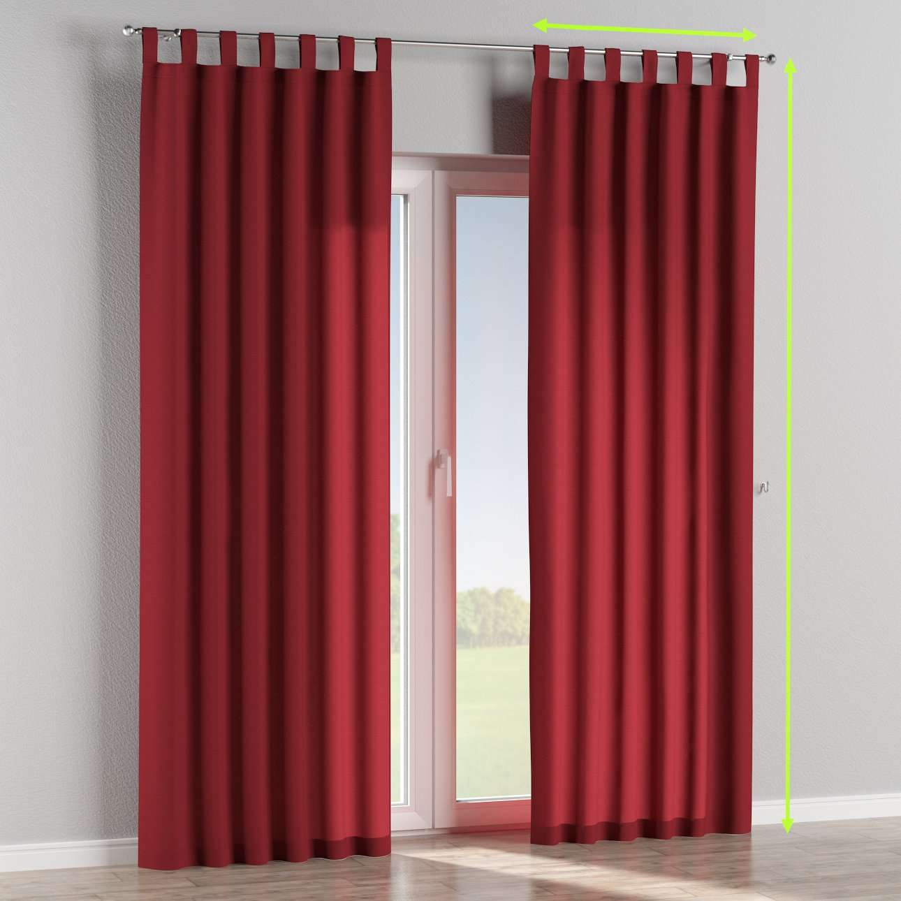 Tab top lined curtains in collection Jupiter, fabric: 127-15