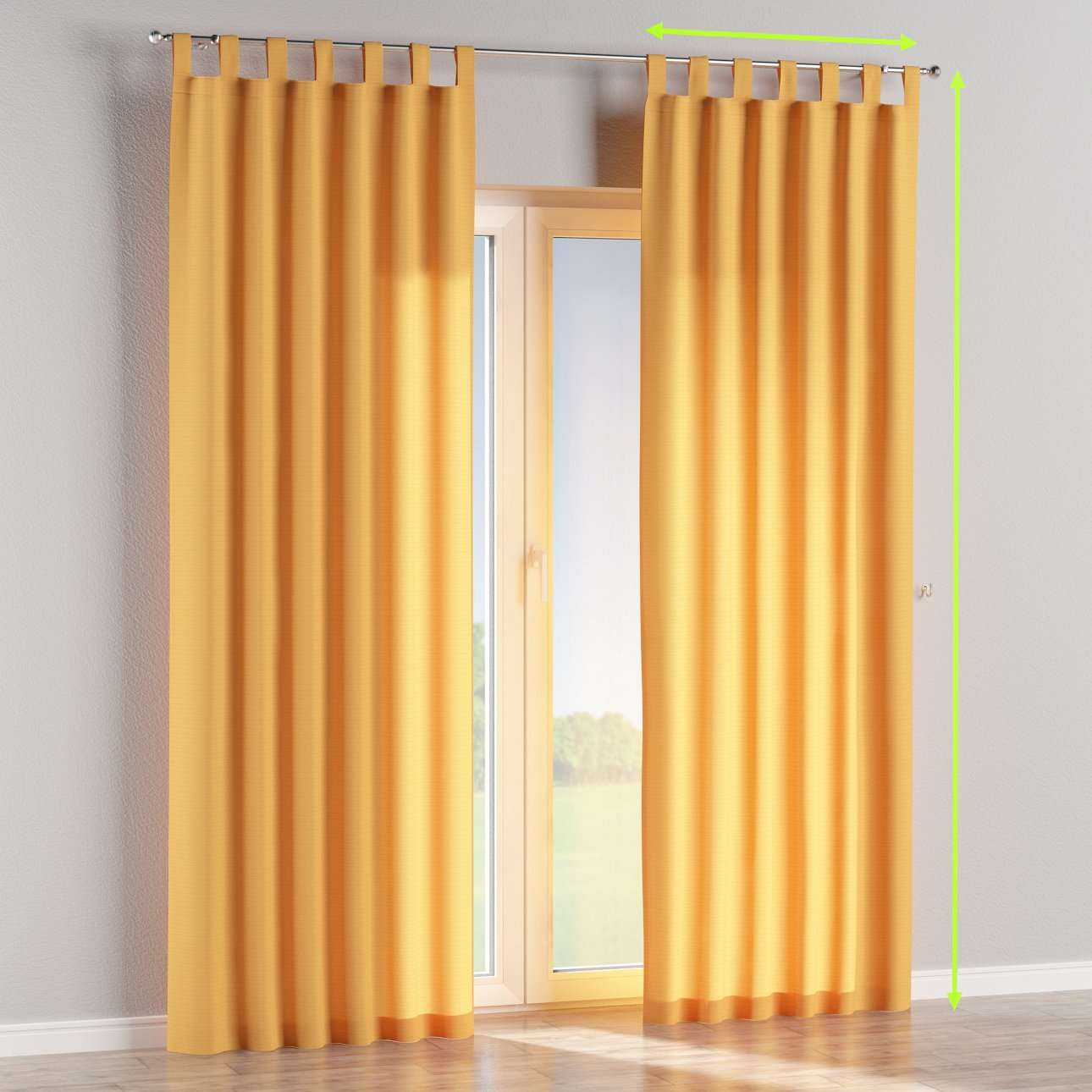 Tab top lined curtains in collection Jupiter, fabric: 127-46