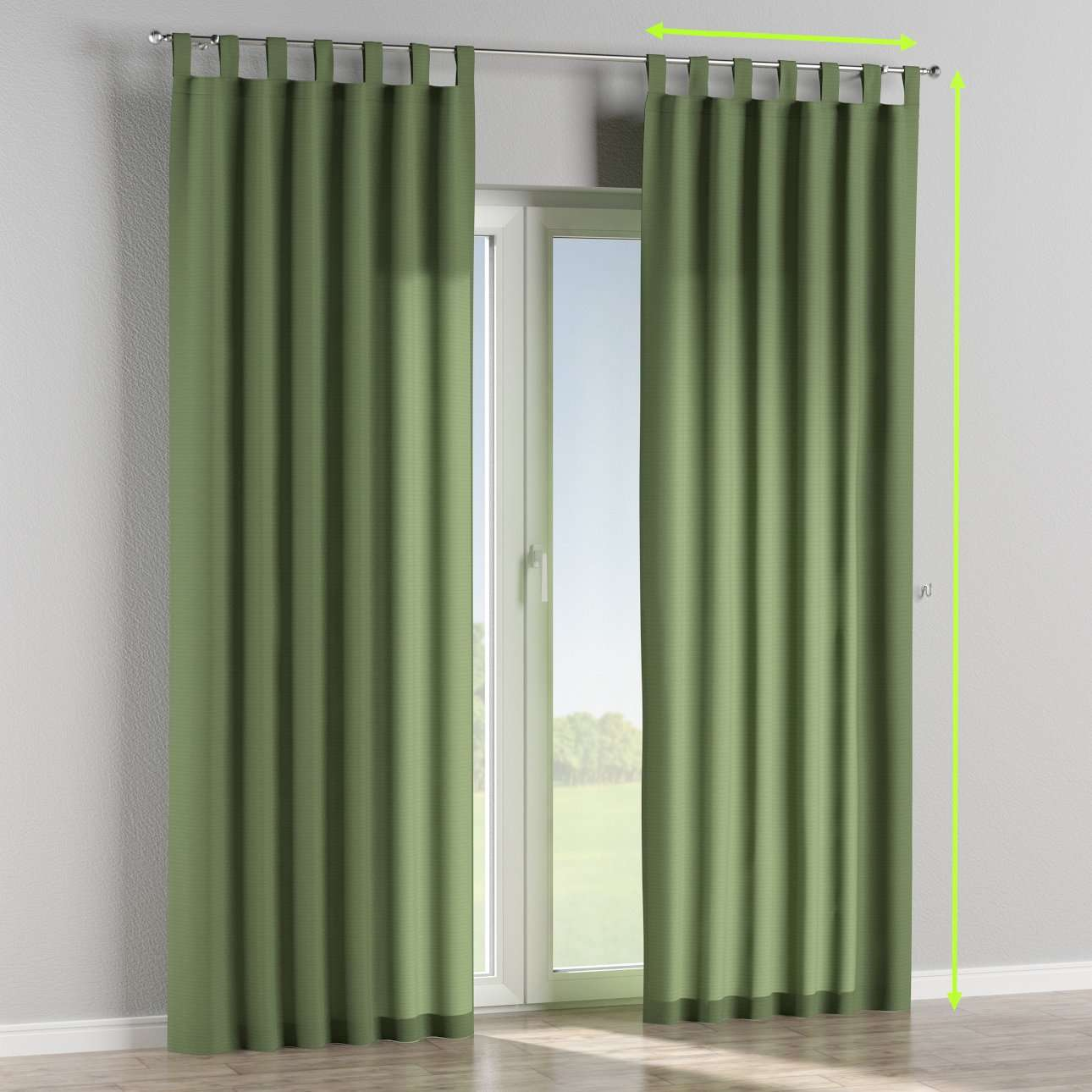Tab top lined curtains in collection Jupiter, fabric: 127-52