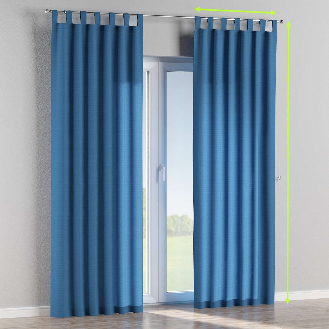 Tab top lined curtains in collection Jupiter, fabric: 127-61