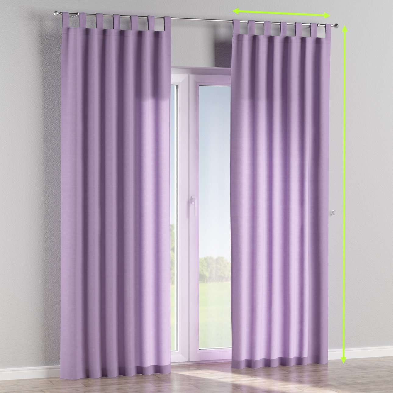 Tab top lined curtains in collection Jupiter, fabric: 127-74