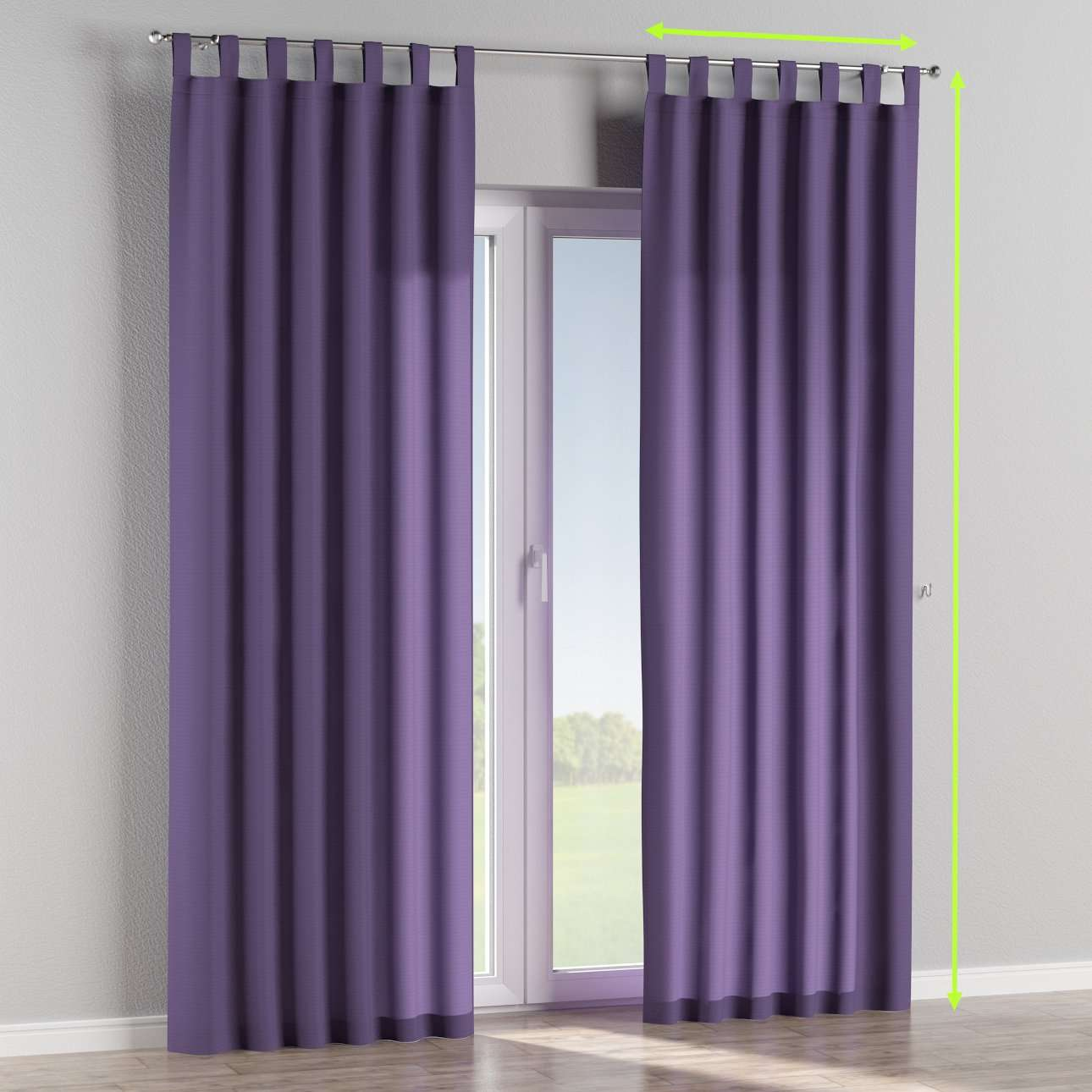 Tab top lined curtains in collection Jupiter, fabric: 127-75