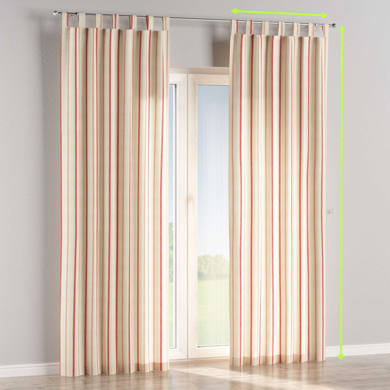 Tab top lined curtains in collection Avinon, fabric: 129-15