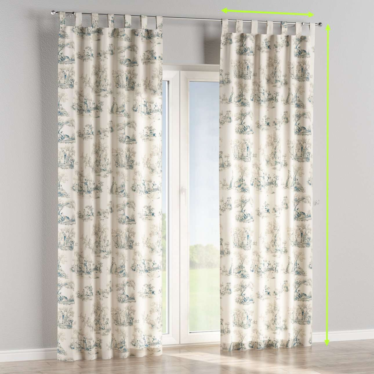 Tab top lined curtains in collection Avinon, fabric: 132-66
