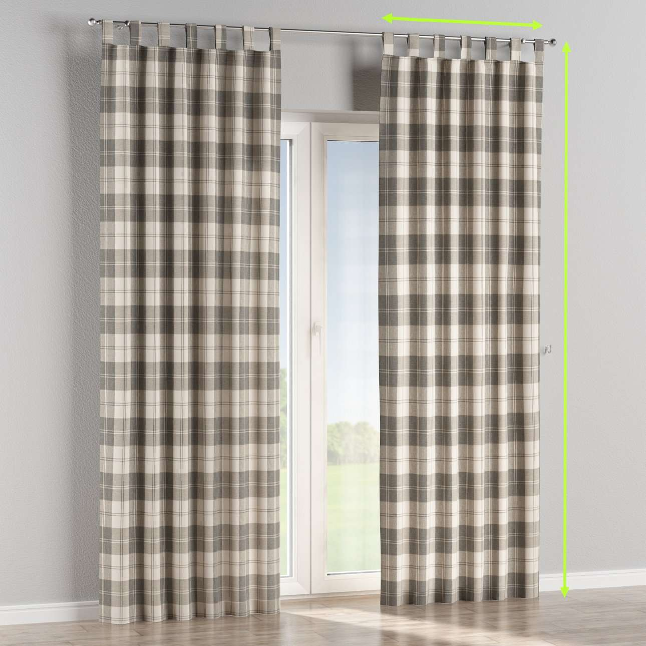Tab top lined curtains in collection Edinburgh, fabric: 115-79