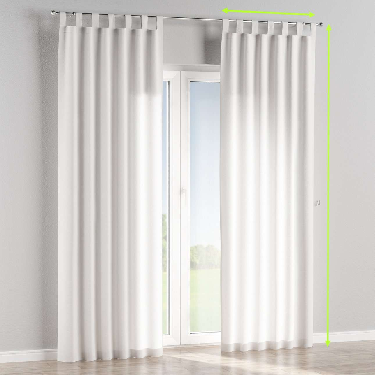 Tab top lined curtains in collection Loneta , fabric: 133-02