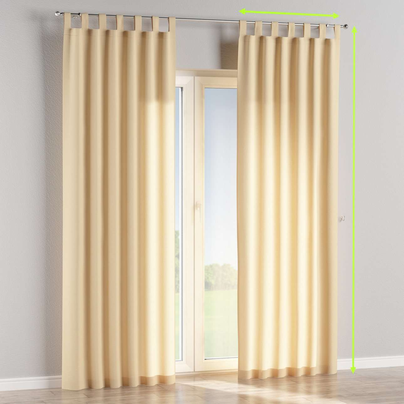 Tab top lined curtains in collection Loneta , fabric: 133-04