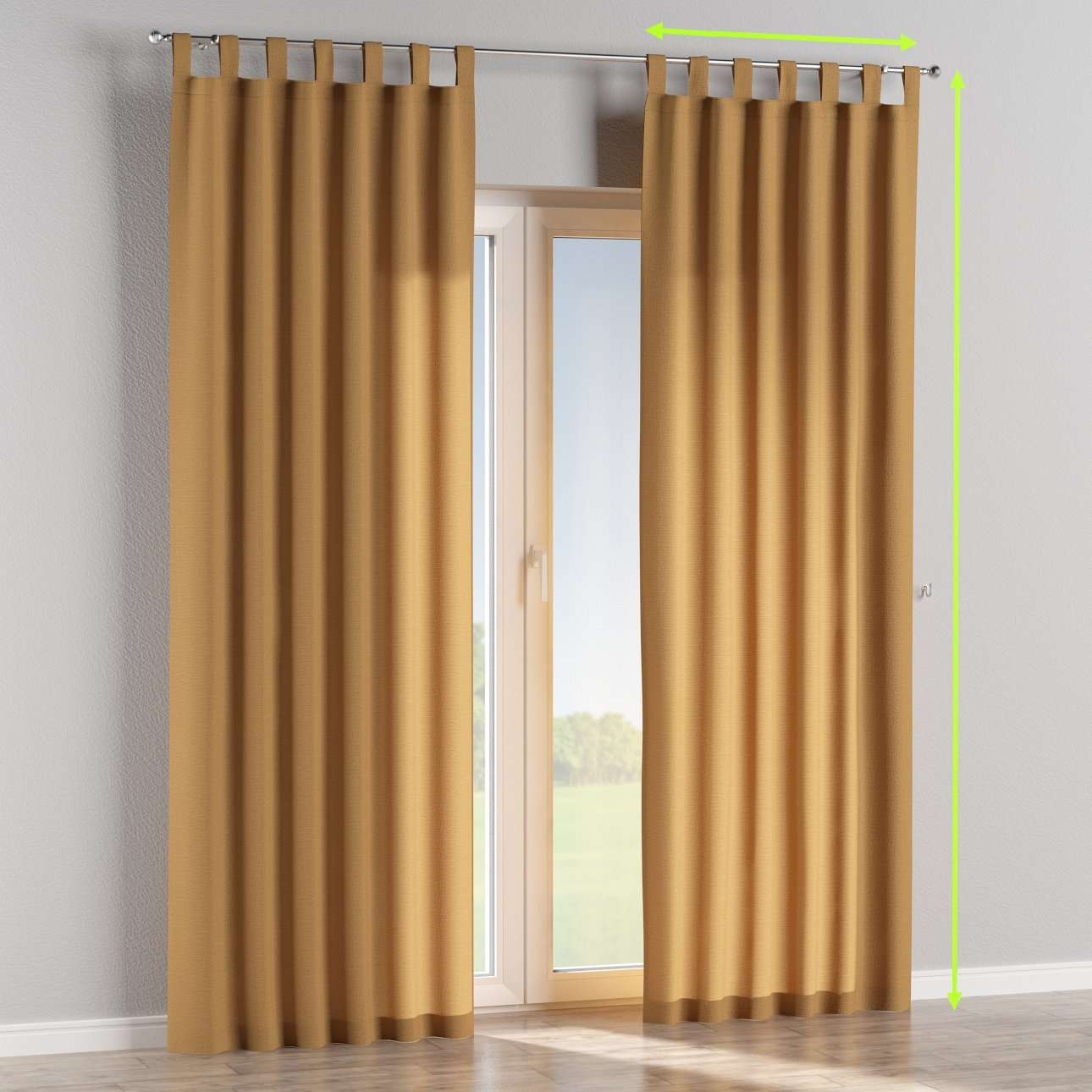 Tab top lined curtains in collection Loneta , fabric: 133-12