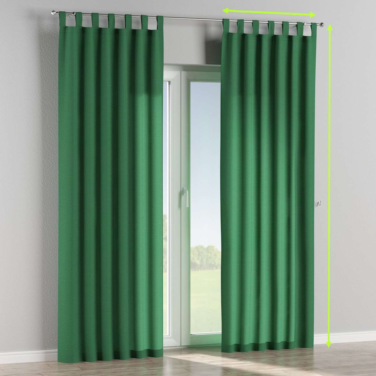 Tab top lined curtains in collection Loneta , fabric: 133-18