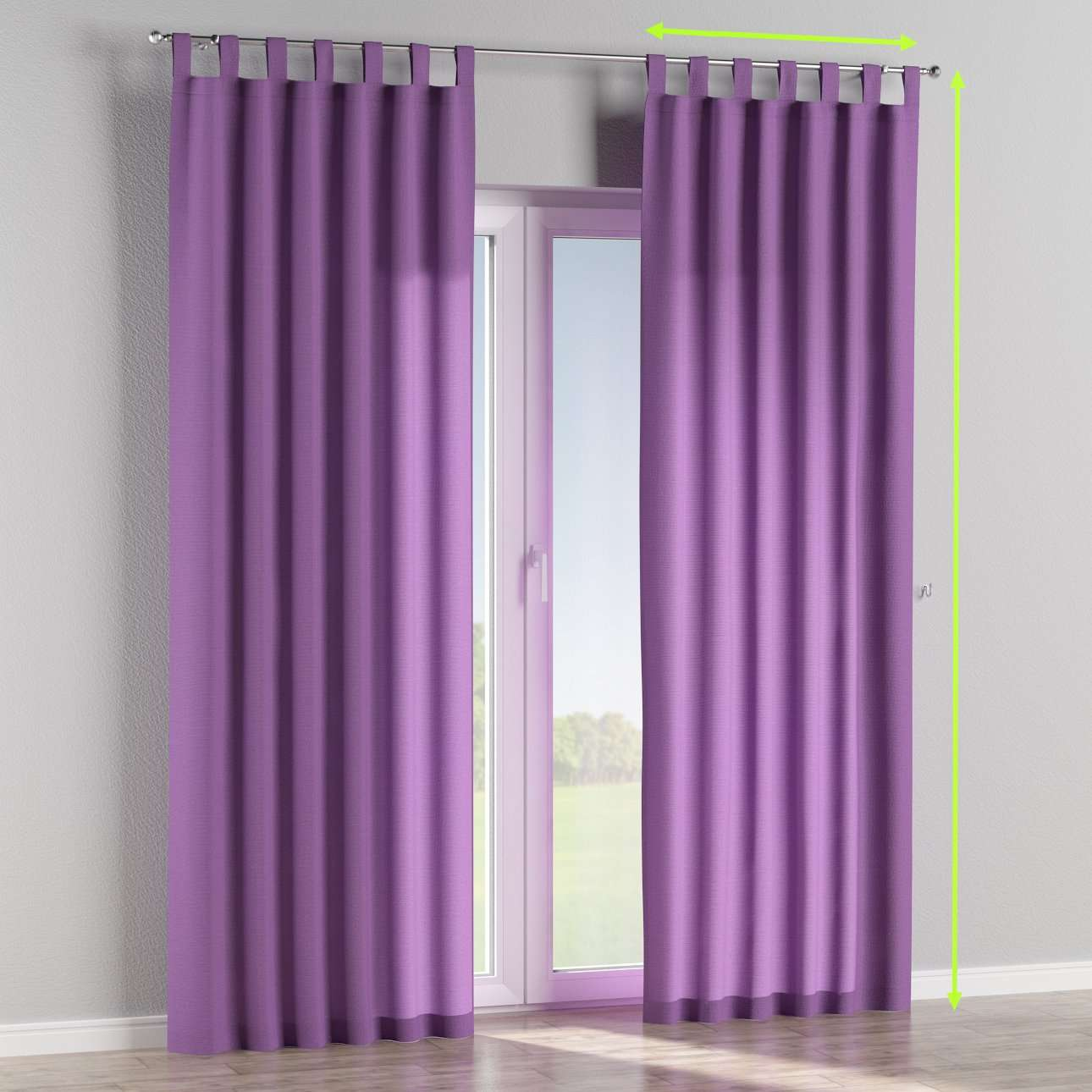 Tab top lined curtains in collection Loneta , fabric: 133-19