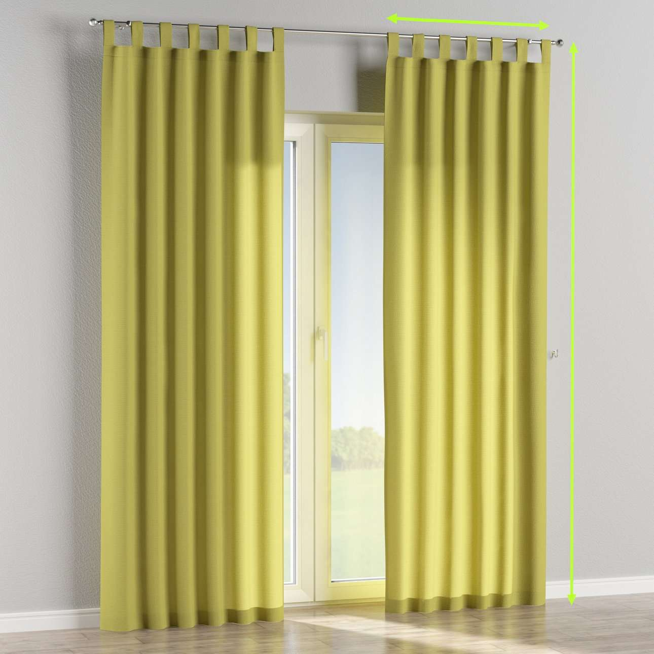 Tab top lined curtains in collection Loneta , fabric: 133-23