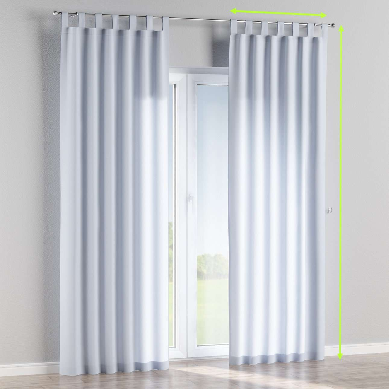 Tab top lined curtains in collection Loneta , fabric: 133-35