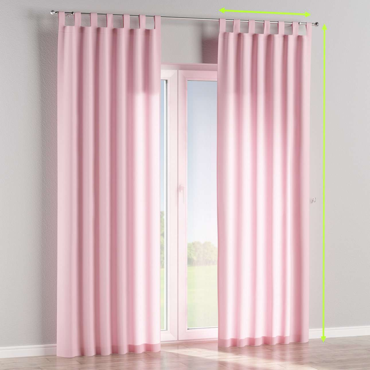 Tab top lined curtains in collection Loneta , fabric: 133-36