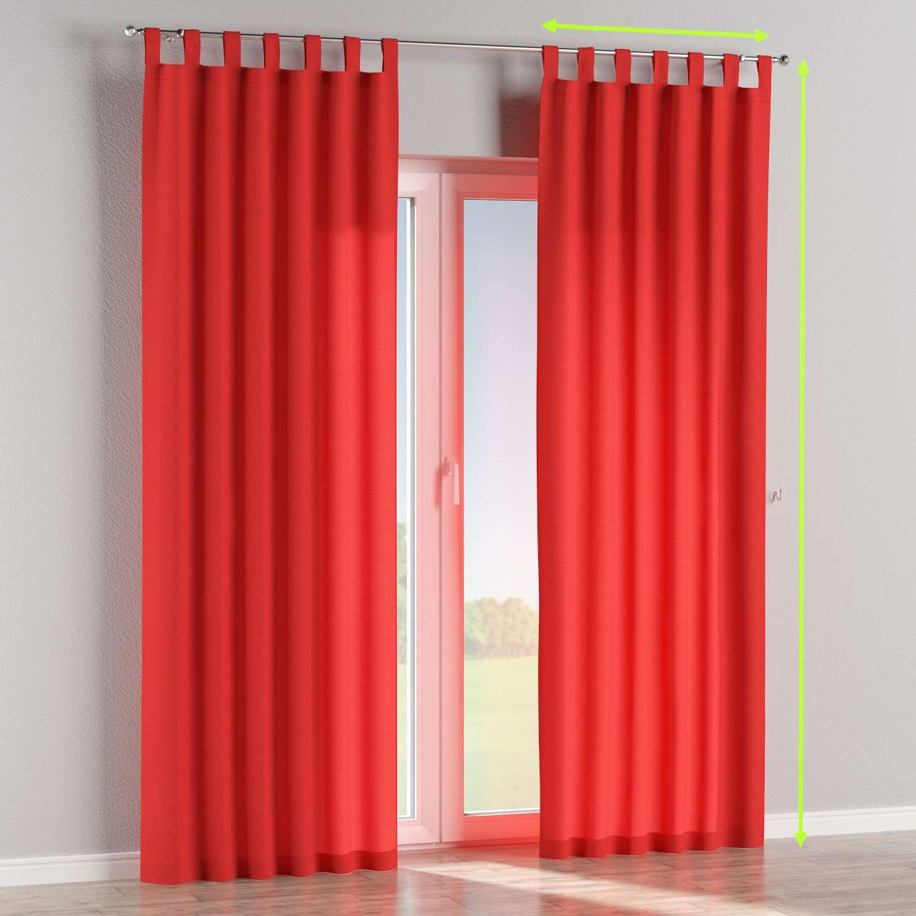 Tab top lined curtains in collection Loneta , fabric: 133-43