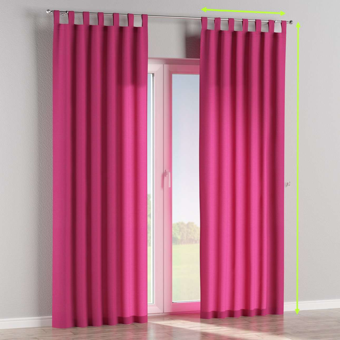 Tab top lined curtains in collection Loneta , fabric: 133-60