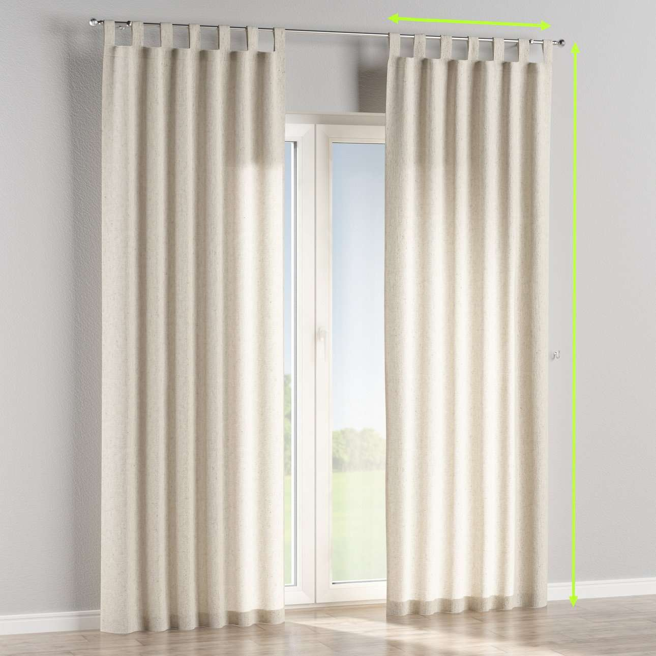 Tab top lined curtains in collection Loneta , fabric: 133-65