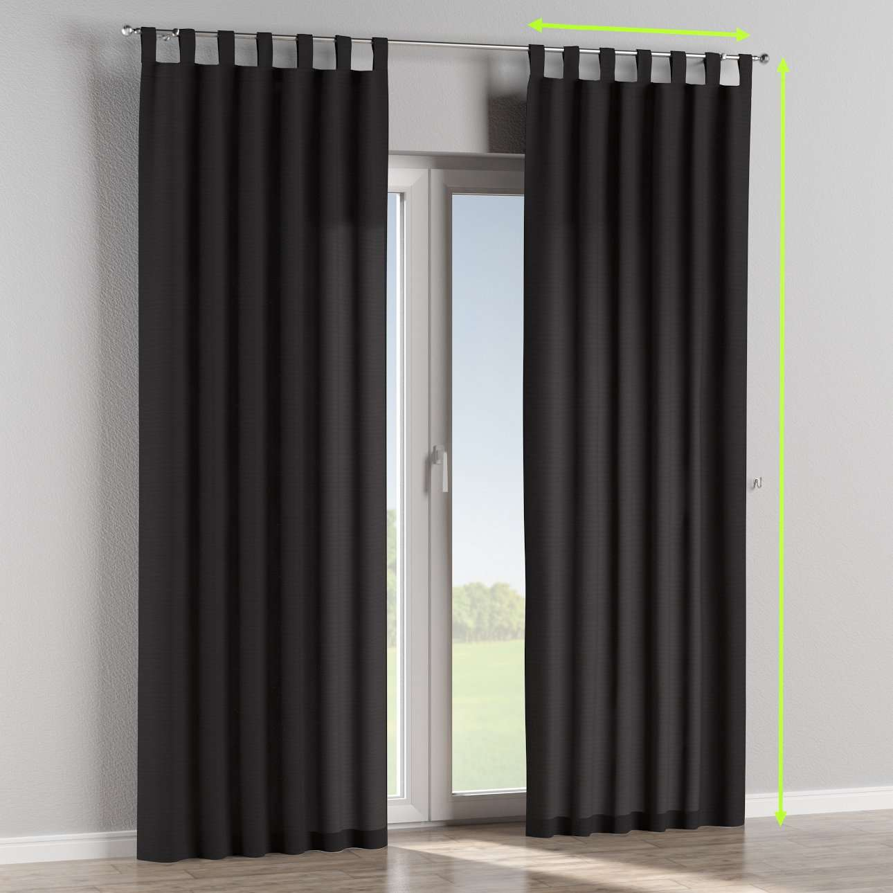 Tab top lined curtains in collection Loneta , fabric: 133-99