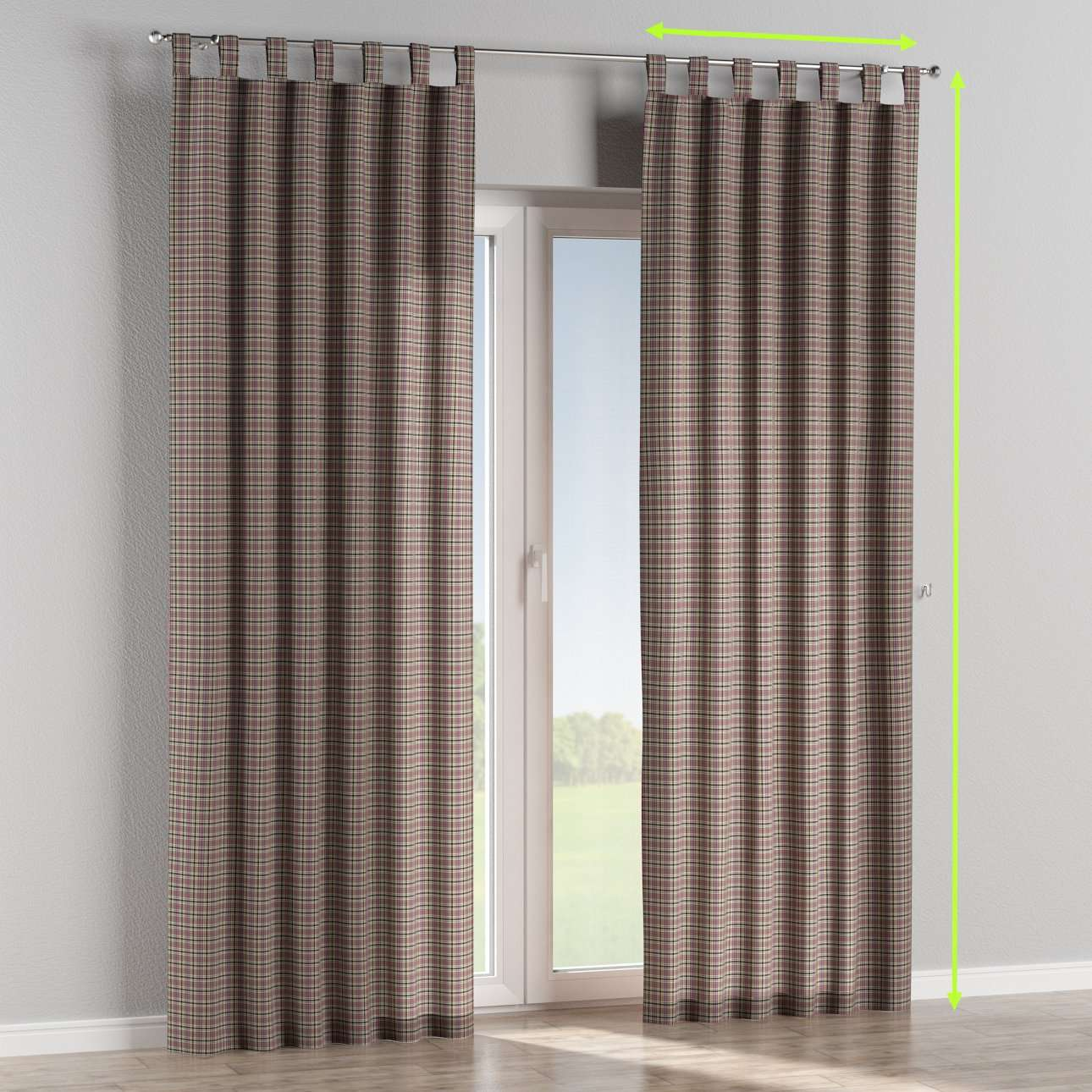 Tab top lined curtains in collection Bristol, fabric: 126-32