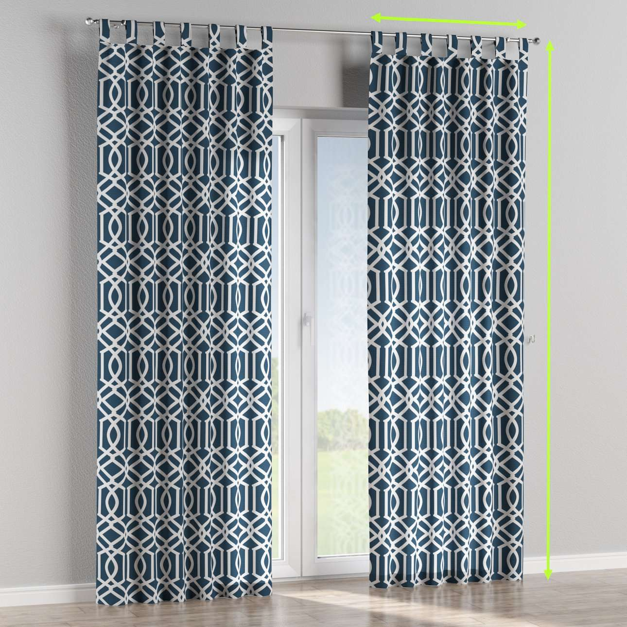 Tab top lined curtains in collection Comic Book & Geo Prints, fabric: 135-10