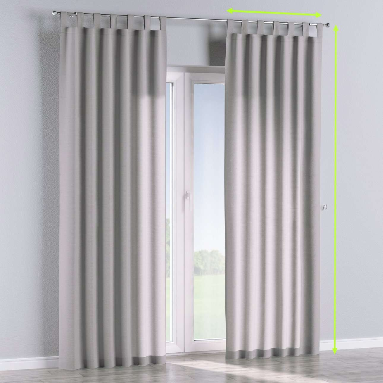 Tab top lined curtains in collection Loneta , fabric: 133-24