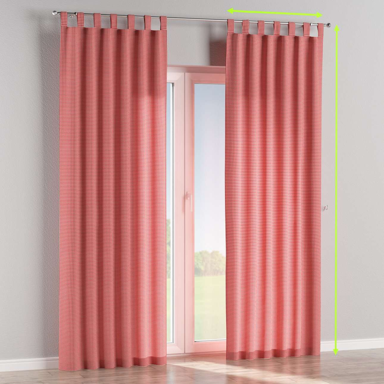 Tab top lined curtains in collection Quadro, fabric: 136-15