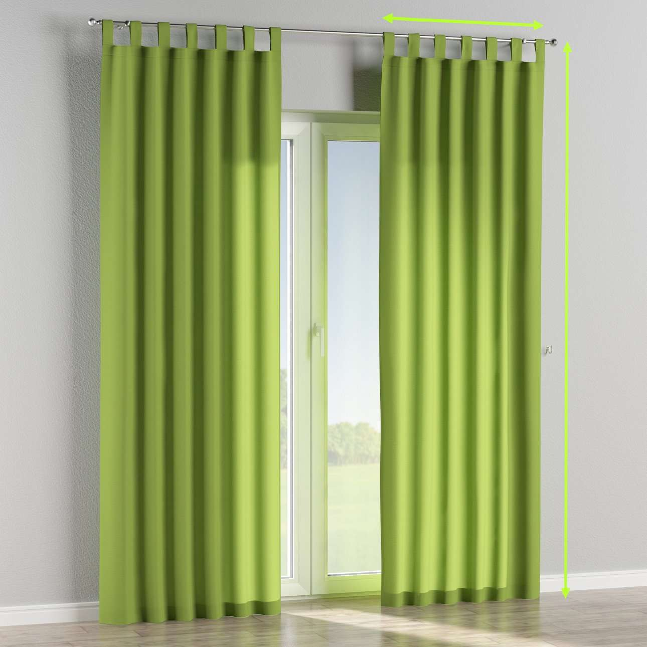 Tab top lined curtains in collection Quadro, fabric: 136-37