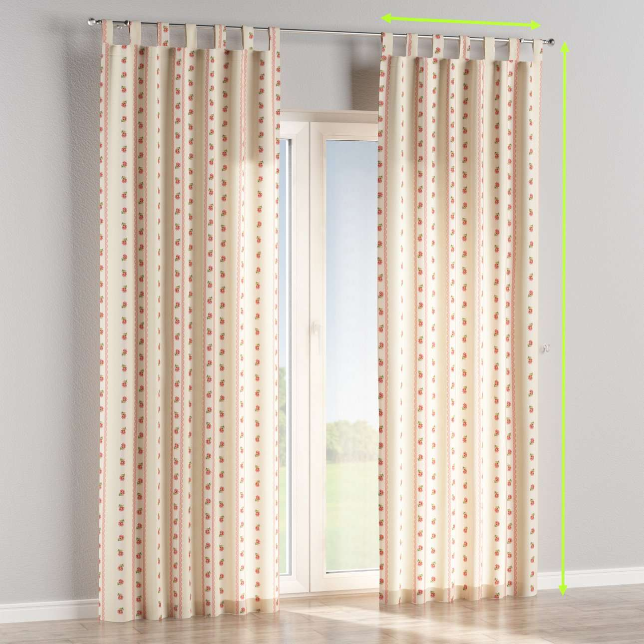 Tab top lined curtains in collection Ashley, fabric: 137-48
