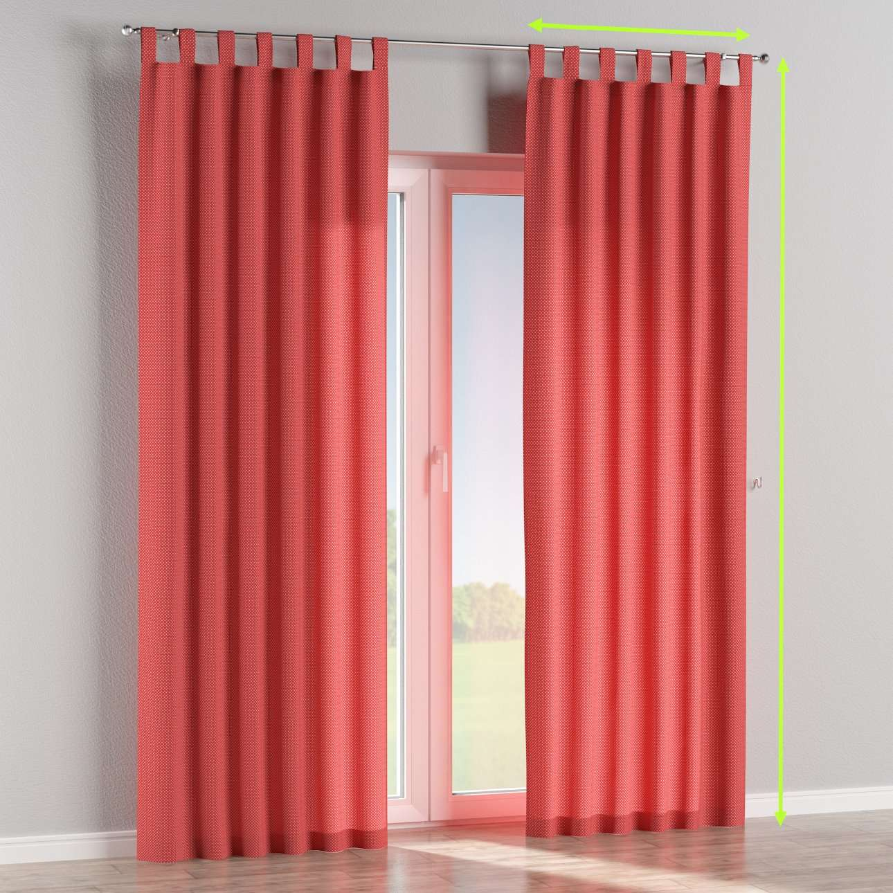 Tab top lined curtains in collection Ashley, fabric: 137-50