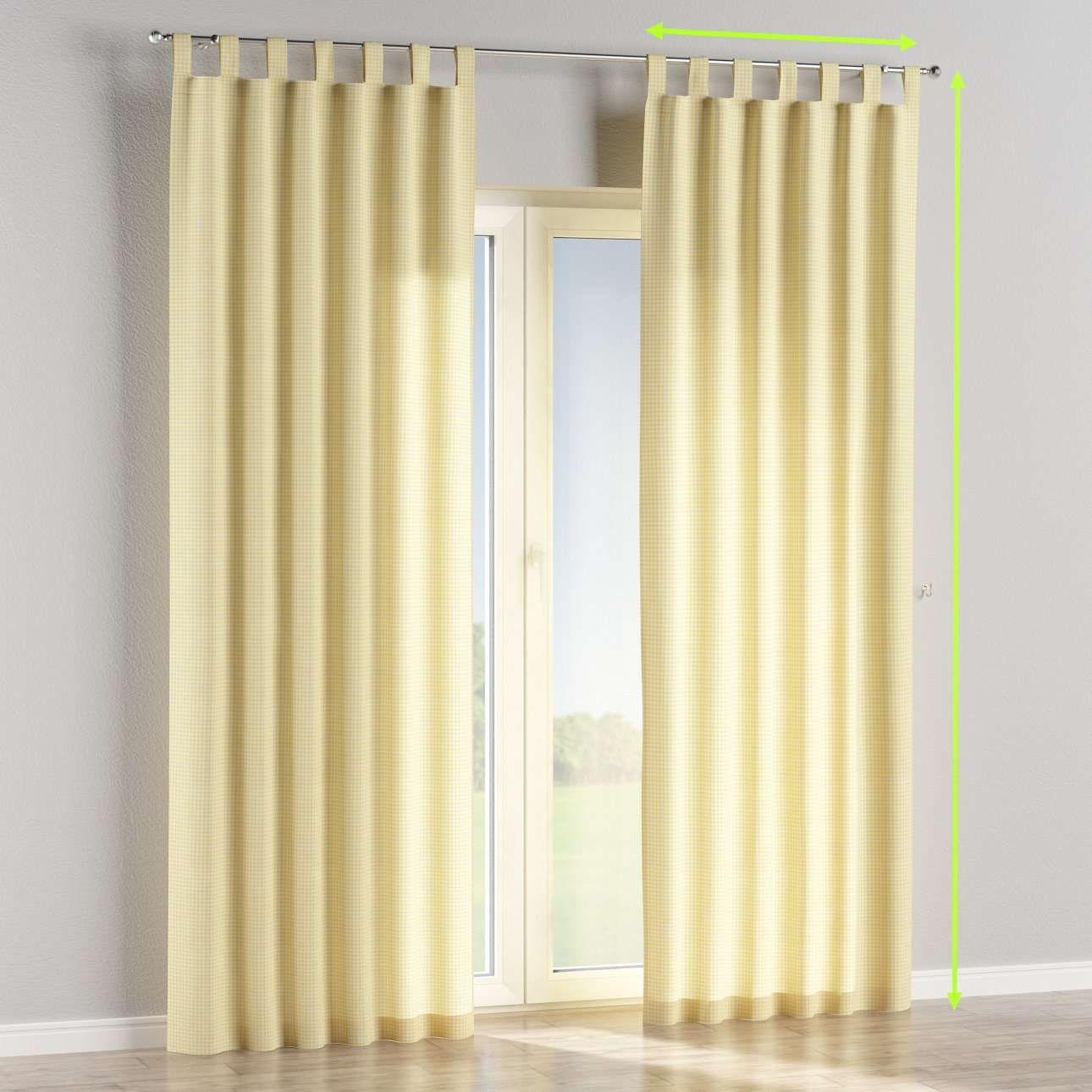 Tab top lined curtains in collection Ashley, fabric: 137-64