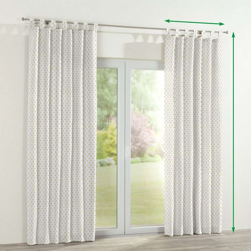 Tab top lined curtains in collection Ashley, fabric: 137-65