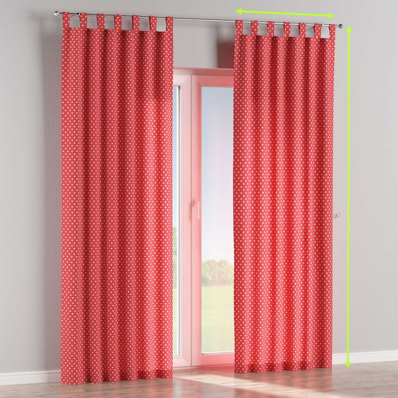 Tab top lined curtains in collection Ashley, fabric: 137-69